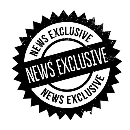 News Exclusive rubber stamp. Grunge design with dust scratches. Effects can be easily removed for a clean, crisp look. Color is easily changed. Illustration