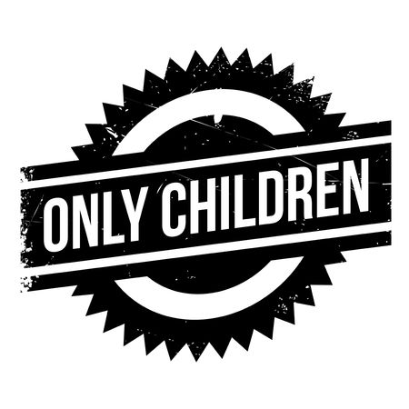 Only Children rubber stamp. Grunge design with dust scratches. Effects can be easily removed for a clean, crisp look. Color is easily changed. Çizim