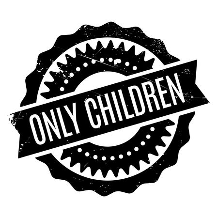 tot: Only Children rubber stamp. Grunge design with dust scratches. Effects can be easily removed for a clean, crisp look. Color is easily changed. Illustration