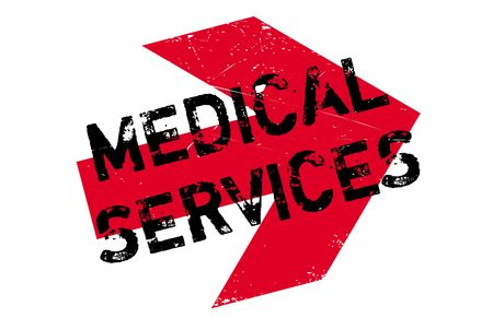 usefulness: Medical Services rubber stamp. Grunge design with dust scratches. Effects can be easily removed for a clean, crisp look. Color is easily changed.