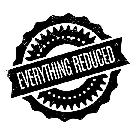 abbreviated: Everything Reduced rubber stamp. Grunge design with dust scratches. Effects can be easily removed for a clean, crisp look. Color is easily changed. Illustration