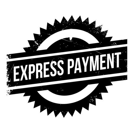 singular: Express Payment rubber stamp. Grunge design with dust scratches. Effects can be easily removed for a clean, crisp look. Color is easily changed.