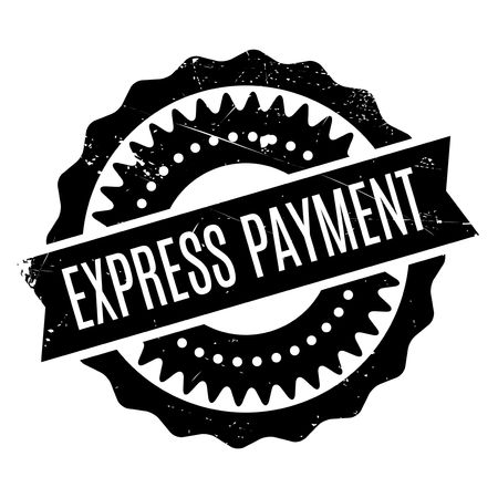 intentional: Express Payment rubber stamp. Grunge design with dust scratches. Effects can be easily removed for a clean, crisp look. Color is easily changed.