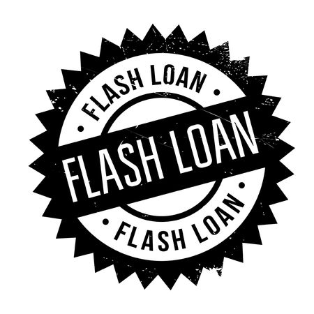 Flash Loan rubber stamp. Grunge design with dust scratches. Effects can be easily removed for a clean, crisp look. Color is easily changed. Illustration
