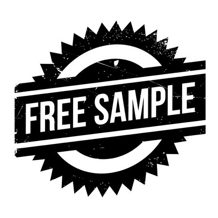 morsel: Free Sample rubber stamp. Grunge design with dust scratches. Effects can be easily removed for a clean, crisp look. Color is easily changed.