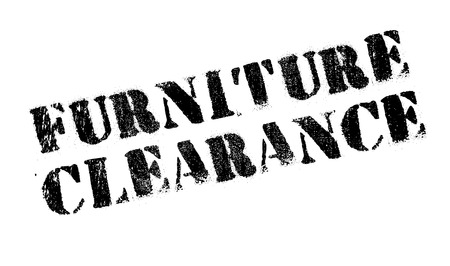 Furniture Clearance rubber stamp. Grunge design with dust scratches. Effects can be easily removed for a clean, crisp look. Color is easily changed.