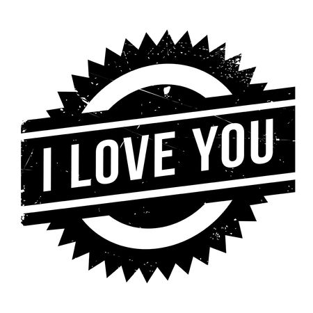 affirmative: I Love You rubber stamp. Grunge design with dust scratches. Effects can be easily removed for a clean, crisp look. Color is easily changed.