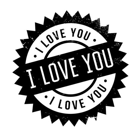 I Love You rubber stamp. Grunge design with dust scratches. Effects can be easily removed for a clean, crisp look. Color is easily changed.