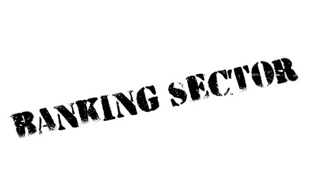 credit crunch: Banking Sector rubber stamp. Grunge design with dust scratches. Effects can be easily removed for a clean, crisp look. Color is easily changed.