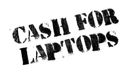 remuneration: Cash For Laptops rubber stamp. Grunge design with dust scratches. Effects can be easily removed for a clean, crisp look. Color is easily changed. Illustration