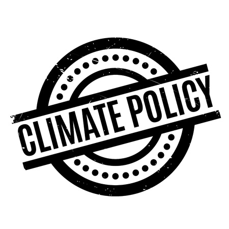 Climate Policy rubber stamp. Grunge design with dust scratches. Effects can be easily removed for a clean, crisp look. Color is easily changed. Illustration