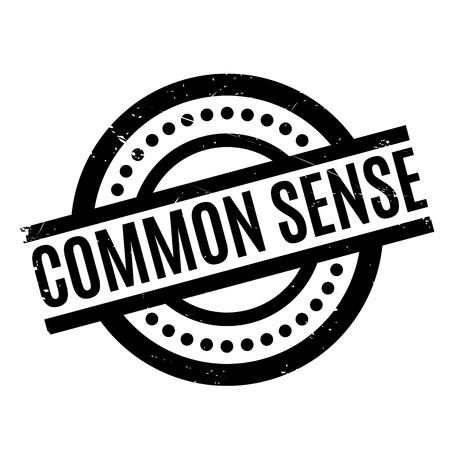 Common Sense rubber stamp. Grunge design with dust scratches. Effects can be easily removed for a clean, crisp look. Color is easily changed. Illustration