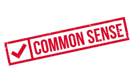 Common Sense rubber stamp. Grunge design with dust scratches. Effects can be easily removed for a clean, crisp look. Color is easily changed. Ilustrace