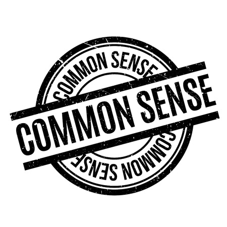 common sense: Common Sense rubber stamp. Grunge design with dust scratches. Effects can be easily removed for a clean, crisp look. Color is easily changed. Illustration