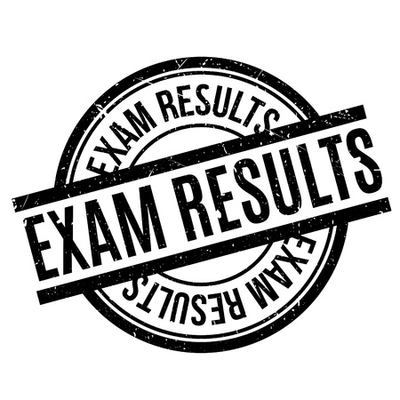 keystone: Exam Results rubber stamp. Grunge design with dust scratches. Effects can be easily removed for a clean, crisp look. Color is easily changed.