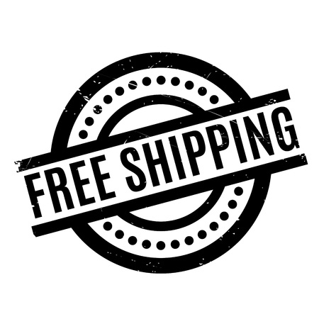 Free Shipping rubber stamp. Grunge design with dust scratches. Effects can be easily removed for a clean, crisp look. Color is easily changed. Illustration