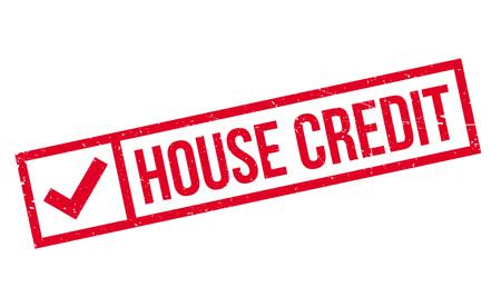 Maison tampon de crédit. conception grunge avec des rayures de poussière. Les effets peuvent être facilement enlevés pour un look propre et net. La couleur est facilement changé.