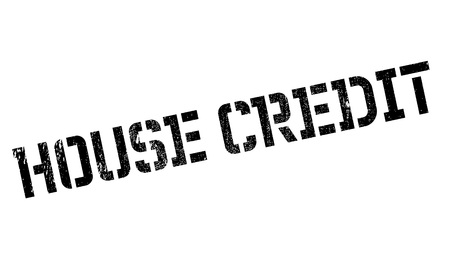 edifice: House Credit rubber stamp. Grunge design with dust scratches. Effects can be easily removed for a clean, crisp look. Color is easily changed.