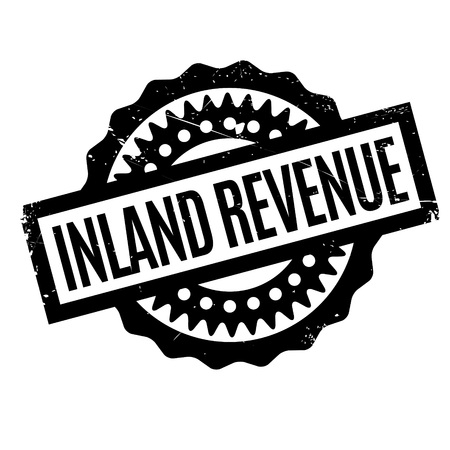 acquirement: Inland Revenue rubber stamp. Grunge design with dust scratches. Effects can be easily removed for a clean, crisp look. Color is easily changed. Illustration