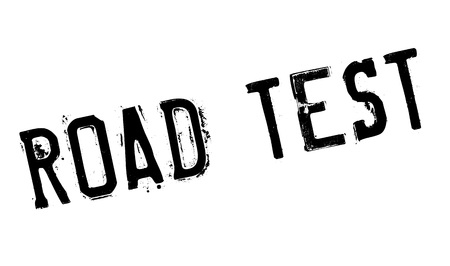examiner: Road Test rubber stamp. Grunge design with dust scratches. Effects can be easily removed for a clean, crisp look. Color is easily changed. Illustration
