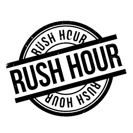 road rage: Rush Hour rubber stamp. Grunge design with dust scratches. Effects can be easily removed for a clean, crisp look. Color is easily changed.