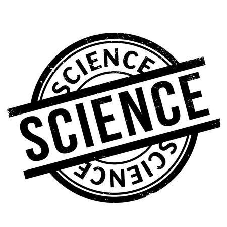uni: Science rubber stamp. Grunge design with dust scratches. Effects can be easily removed for a clean, crisp look. Color is easily changed.