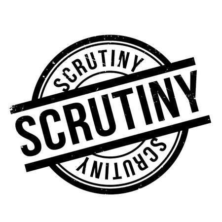 uni: Scrutiny rubber stamp. Grunge design with dust scratches. Effects can be easily removed for a clean, crisp look. Color is easily changed.