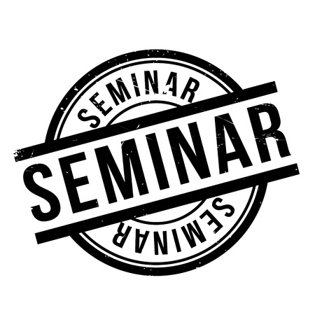 uni: Seminar rubber stamp. Grunge design with dust scratches. Effects can be easily removed for a clean, crisp look. Color is easily changed.