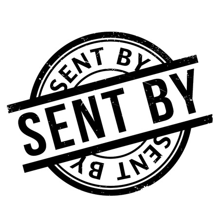 appointed: Sent By rubber stamp. Grunge design with dust scratches. Effects can be easily removed for a clean, crisp look. Color is easily changed.