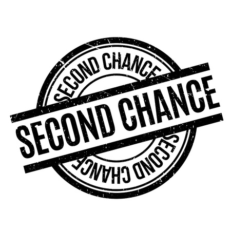 Second Chance rubber stamp. Grunge design with dust scratches. Effects can be easily removed for a clean, crisp look. Color is easily changed. Illustration