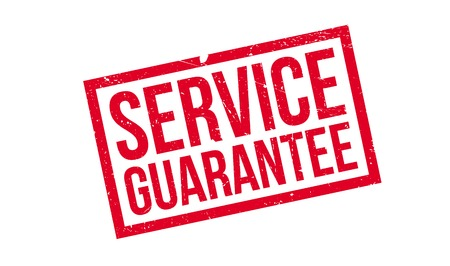 Service Garantie Stempel. Grunge-Design mit Staub Kratzer. Effekte können für ein sauberes, klares Aussehen leicht entfernt werden. Die Farbe wird leicht geändert.