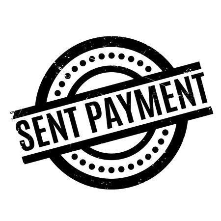 Sent Payment rubber stamp. Grunge design with dust scratches. Effects can be easily removed for a clean, crisp look. Color is easily changed. Illustration