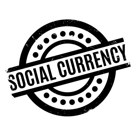 Social Currency rubber stamp. Grunge design with dust scratches. Effects can be easily removed for a clean, crisp look. Color is easily changed. Illustration