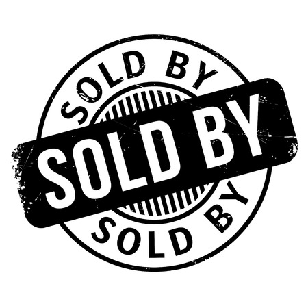 Sold By rubber stamp. Grunge design with dust scratches. Effects can be easily removed for a clean, crisp look. Color is easily changed.