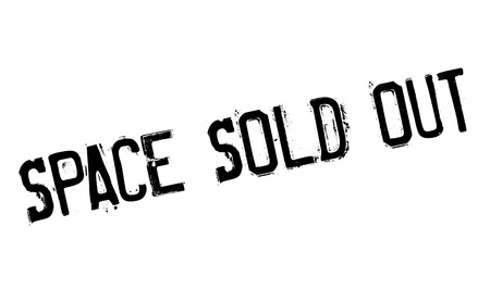 Space Sold Out rubber stamp. Grunge design with dust scratches. Effects can be easily removed for a clean, crisp look. Color is easily changed.