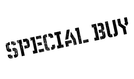 especial: Special Buy rubber stamp. Grunge design with dust scratches. Effects can be easily removed for a clean, crisp look. Color is easily changed.