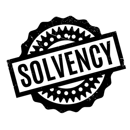 insolvent: Solvency rubber stamp. Grunge design with dust scratches. Effects can be easily removed for a clean, crisp look. Color is easily changed. Illustration