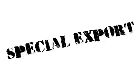 especial: Special Export rubber stamp. Grunge design with dust scratches. Effects can be easily removed for a clean, crisp look. Color is easily changed.