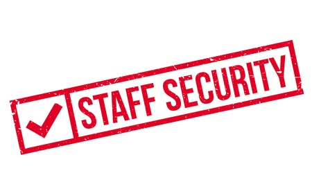 refuge: Staff Security rubber stamp. Grunge design with dust scratches. Effects can be easily removed for a clean, crisp look. Color is easily changed.