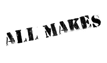 All Makes rubber stamp. Grunge design with dust scratches. Effects can be easily removed for a clean, crisp look. Color is easily changed. Illustration