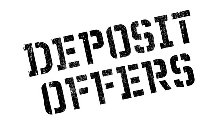 overture: Deposit Offers rubber stamp. Grunge design with dust scratches. Effects can be easily removed for a clean, crisp look. Color is easily changed.
