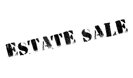 domains: Estate Sale rubber stamp. Grunge design with dust scratches. Effects can be easily removed for a clean, crisp look. Color is easily changed.