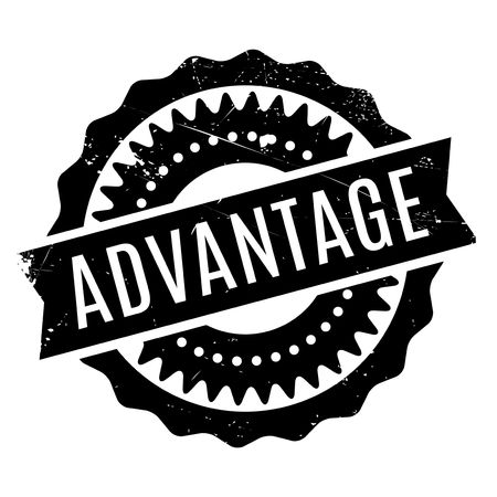 Advantage rubber stamp. Grunge design with dust scratches. Effects can be easily removed for a clean, crisp look. Color is easily changed.