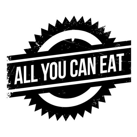 changed: All You Can Eat rubber stamp. Grunge design with dust scratches. Effects can be easily removed for a clean, crisp look. Color is easily changed.