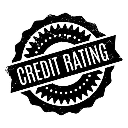 credit crunch: Credit Rating rubber stamp. Grunge design with dust scratches. Effects can be easily removed for a clean, crisp look. Color is easily changed. Illustration