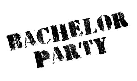 changed: Bachelor Party rubber stamp. Grunge design with dust scratches. Effects can be easily removed for a clean, crisp look. Color is easily changed.