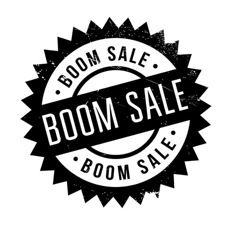 reverberation: Boom Sale rubber stamp. Grunge design with dust scratches. Effects can be easily removed for a clean, crisp look. Color is easily changed.