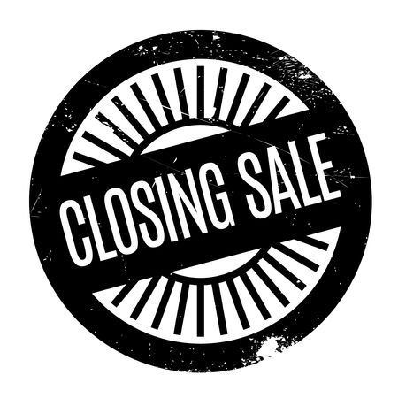 finale: Closing Sale rubber stamp. Grunge design with dust scratches. Effects can be easily removed for a clean, crisp look. Color is easily changed.