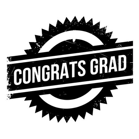 changed: Congrats Grad rubber stamp. Grunge design with dust scratches. Effects can be easily removed for a clean, crisp look. Color is easily changed.