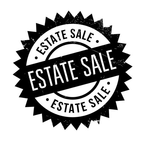 changed: Estate Sale rubber stamp. Grunge design with dust scratches. Effects can be easily removed for a clean, crisp look. Color is easily changed.
